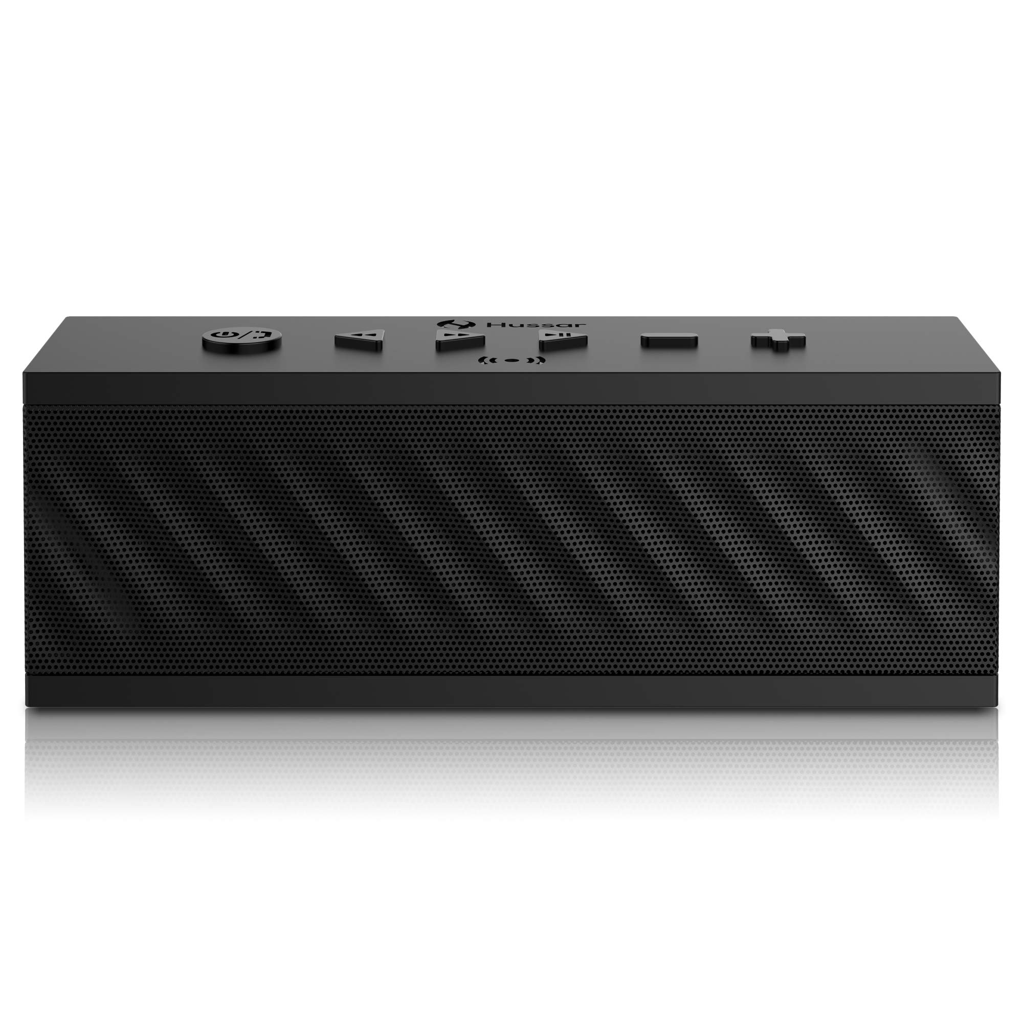 HUSSAR Bluetooth Speakers, 16W Portable Wireless Speaker, Premium Sound with Enhanced Bass and Selectable Sound Effects, IPX5 Waterproof, Built-in Mic with Siri, Black by Hussar