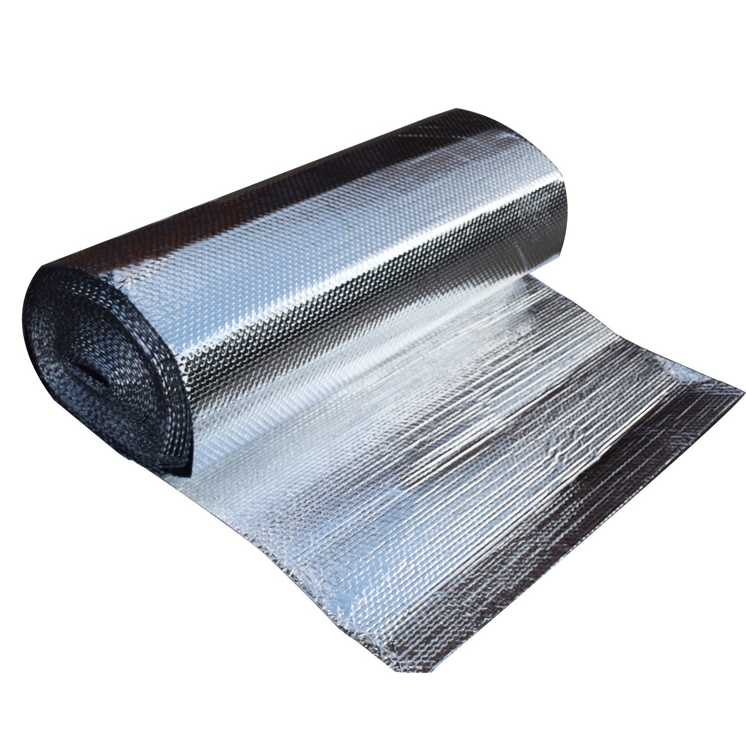 47'' x 100' IR Blocker | DOUBLE LAYERS BUBBLE FOIL ALUMINUM MYLAR | 3/16'' Thickness