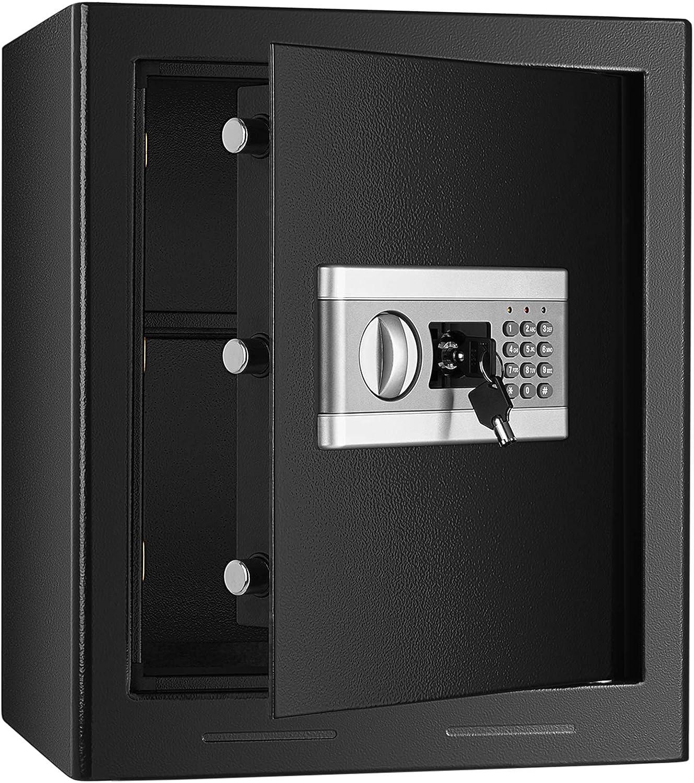 Kacsoo Fireproof Safe Cabinet Security Box, Digital Combination Lock Safe with Keypad LED Indicator, for Pistol Cash Jewelry Important Documents(1.53Cub)