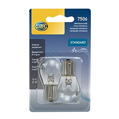HELLA 7506TB Standard-21W Standard Miniature 7506 Bulbs, 12V, 21W, 2 Pack: Automotive