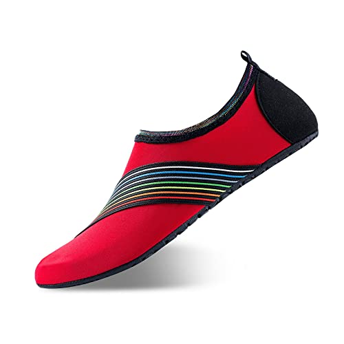 d7eebb1dcc Men Women Water Shoes Quick-Dry Barefoot Aqua Socks Shoes for Swim Beach  Pool Surf