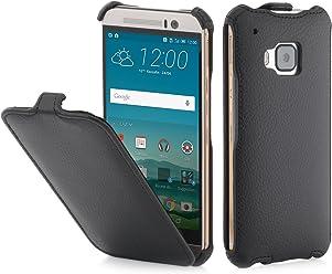 StilGut® SlimCase, Housse, Coque, étui pour HTC One M9, Noir