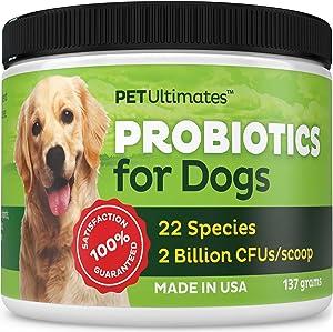 Pet Ultimates Probiotics for Dogs, 137 grams