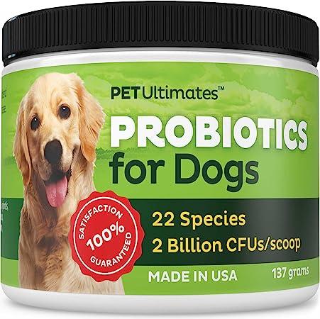 Pet Ultimates Probiotics For Dogs 137 Grams Pet Supplies Amazon Com