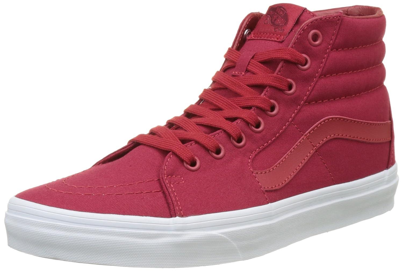 Vans Herren UA Sk8-Hi Hohe Sneakers, Gruuml;n  39 EU|Rot (Mono Canvas)