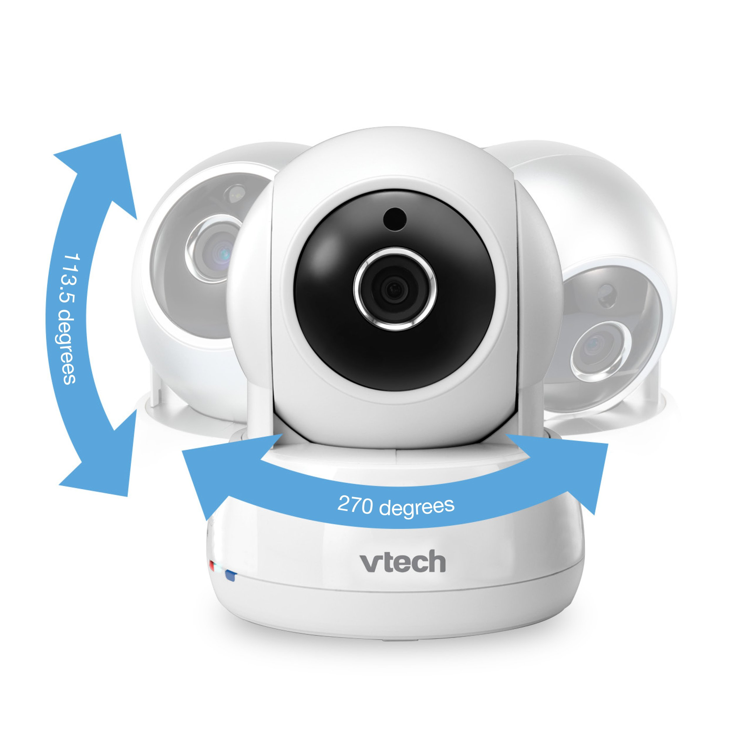 VTech VM991 Wireless WiFi Video Baby Monitor with Remote Access App, 5-inch Touch Screen, Remote Access Pan, Tilt & Zoom, Motion Alerts & Support for up to 10 Cameras by VTech (Image #6)