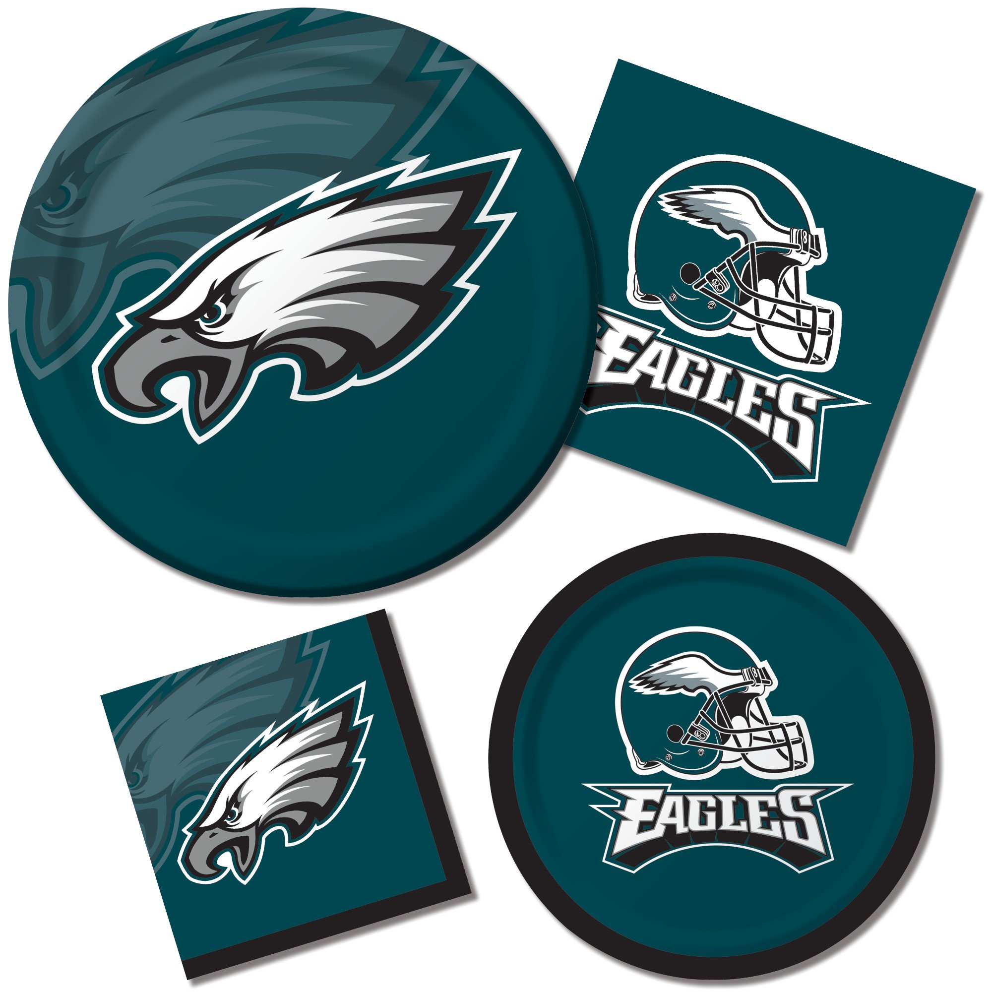 Creative Converting Officially Licensed NFL Dinner Paper Plates, 96-Count, Philadelphia Eagles - 429524 by Creative Converting (Image #1)