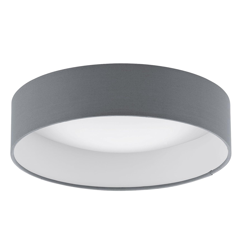 EGLO 93395 LED-Deckenleuchte Palomaro aus Textil Durchmesser 32 cm, Plastik, anthrazit/weiß [Energieklasse A+] anthrazit/weiß