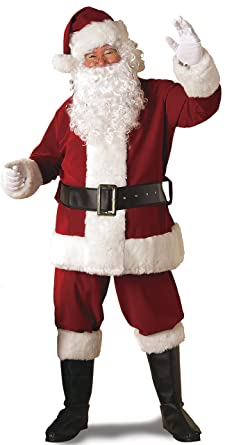 Wonderful Rubieu0027s Regal Crimson Santa Suit With Gloves (X Large W/White Beard,