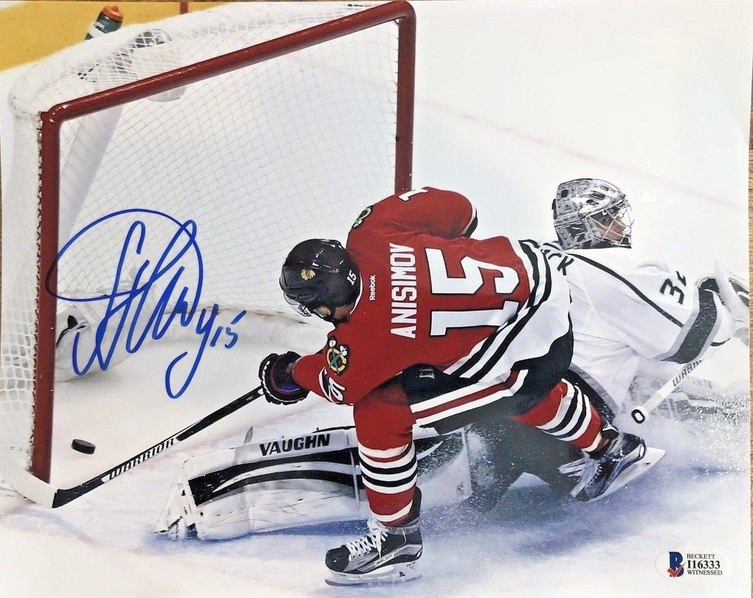 Artem Anisimov Autographed Signed Blackhawks 8x10 Photo Beckett Authentic
