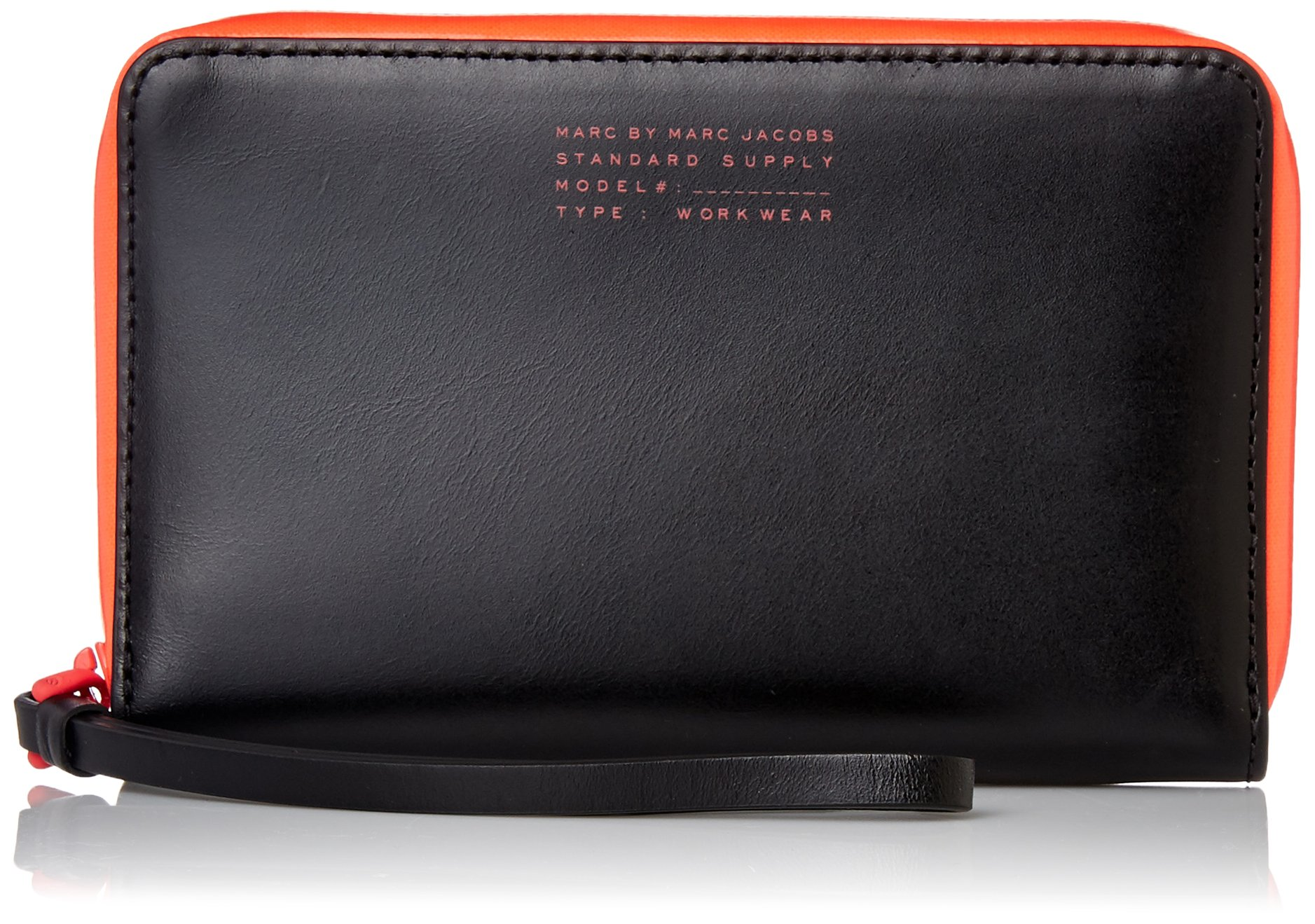 Marc by Marc Jacobs Sophisticato Duo Wingman Wristlet, Black, One Size by Marc by Marc Jacobs