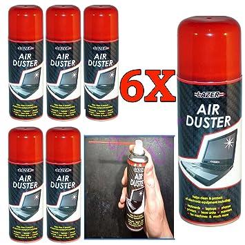 6 x Nuevo Aire Comprimido plumero Spray limpiador música ...