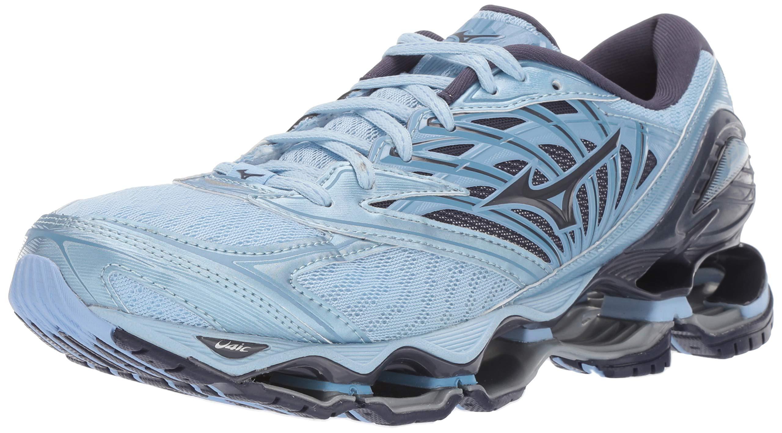 Mizuno Women's Wave Prophecy 8 Running Shoe, Angel Falls-Graphite 06.5 B US