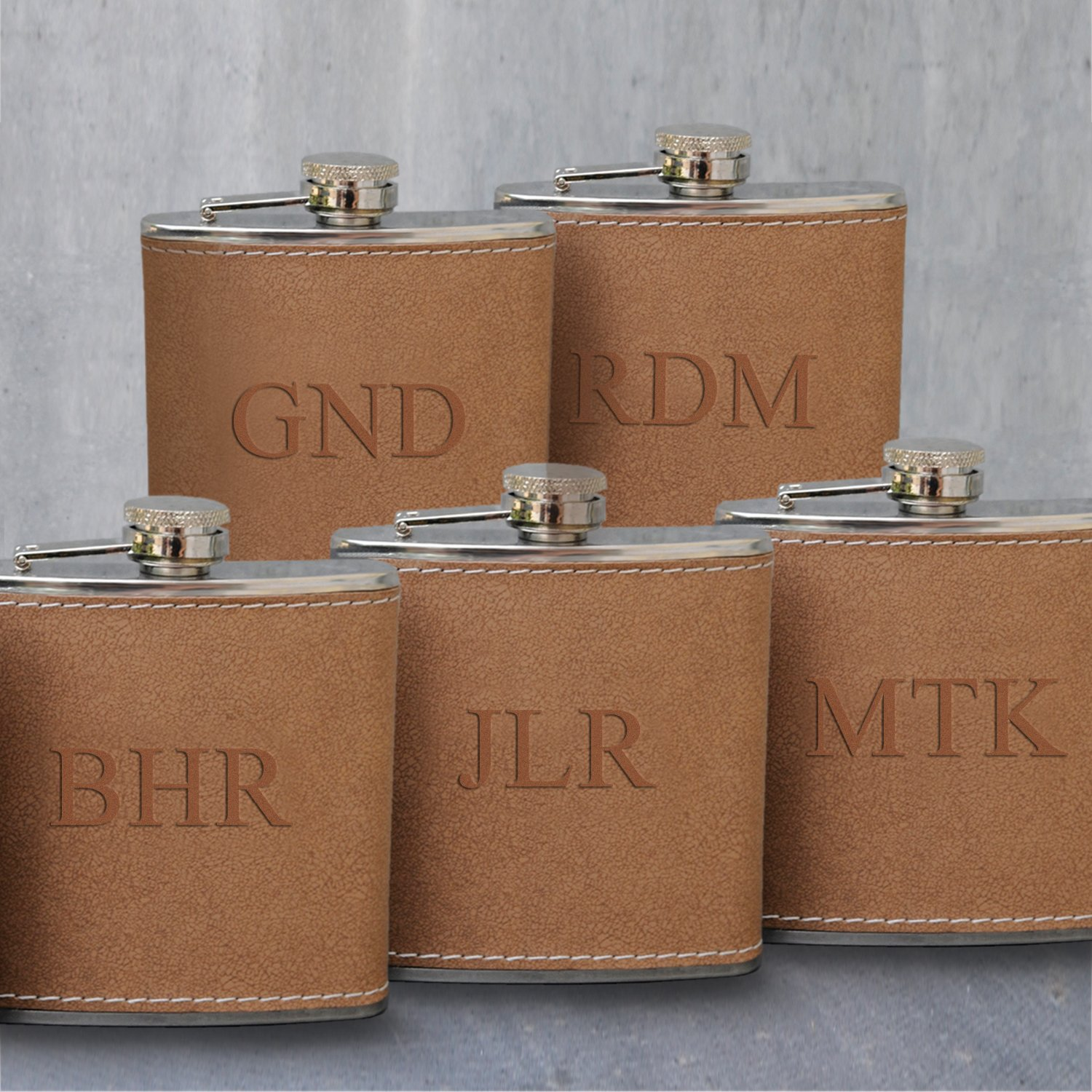 人気No.1 Personalizedのセット5刻印タンステッチ – – 非表示Flasks B07FTXZDJQ for for Groomsmen B07FTXZDJQ, JUKO.IN:b6aed6e6 --- a0267596.xsph.ru