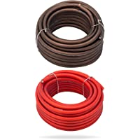 InstallGear 8 Gauge 25ft Black and 25ft Red Power/Ground Wire True Spec and Soft… photo