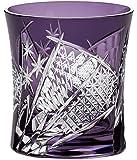 东洋佐佐木玻璃 玻璃杯 紫色 280ml 八千代切子 扇柄 日本制造 LS19590SP-C682