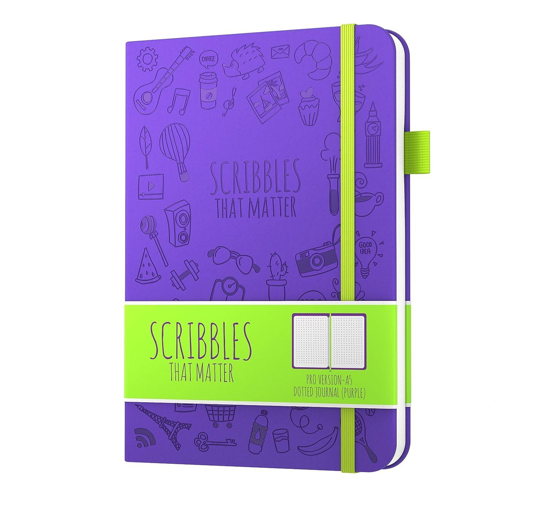 Iconic version elastico carta spessa di qualit/à Scribbles That Matter formato A5 bellissima copertina Lavender notebook punteggiato