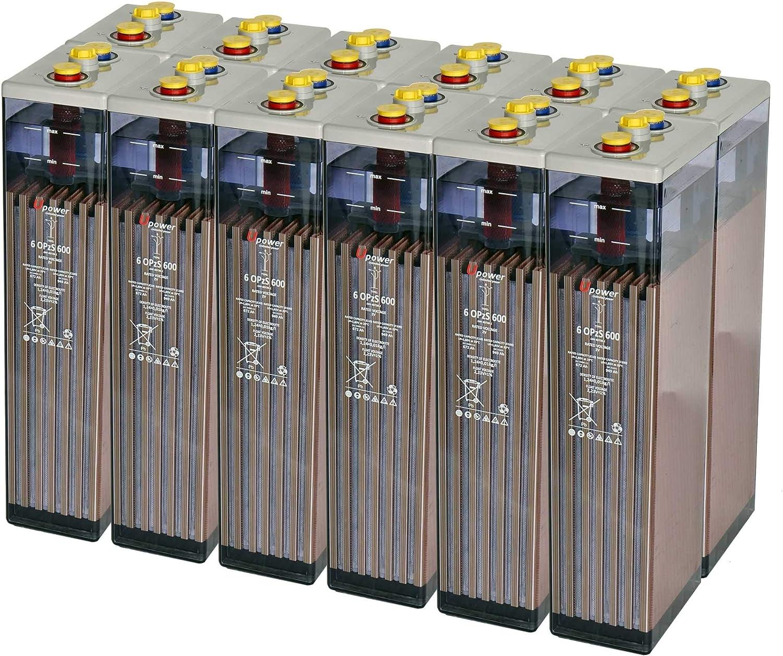 Master U-Power Batería Solar, 6 OPZS 600 24V Mas de 20 años de Vida, Gris