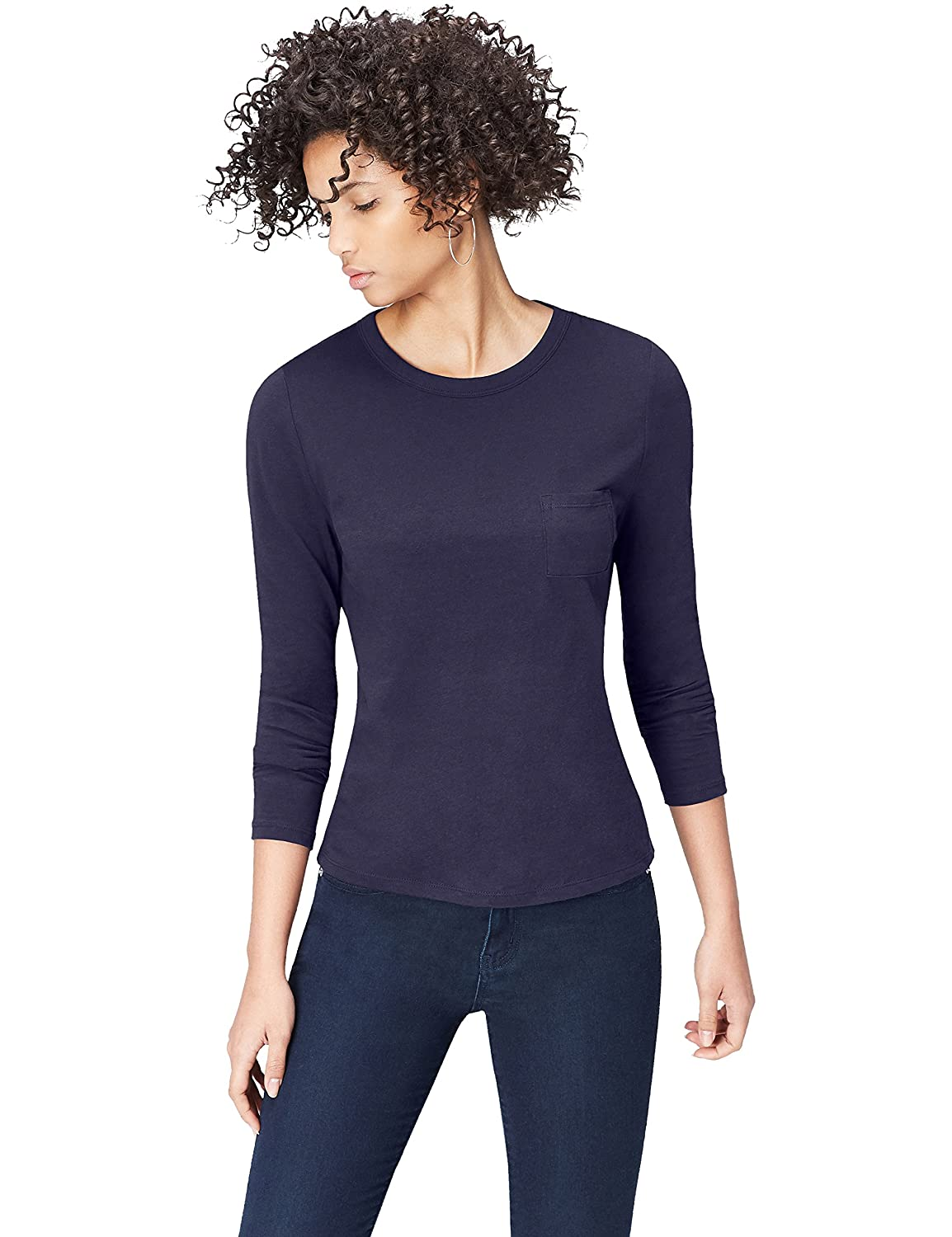 FIND Women's Long Sleeve Crew Neck T-Shirt 18110