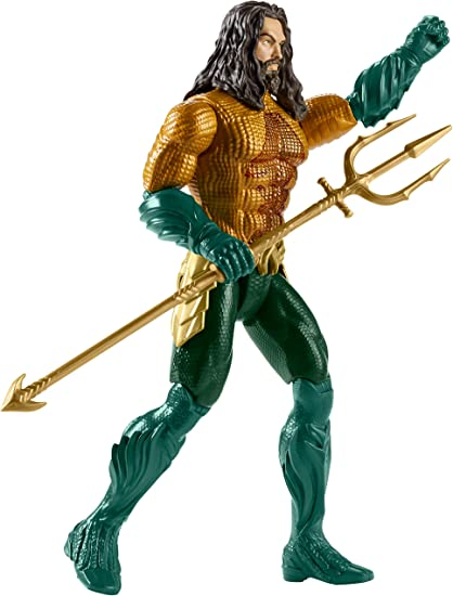 Aquaman Movie 12-Inch Light and Sounds Action Figure with Spinning Trident