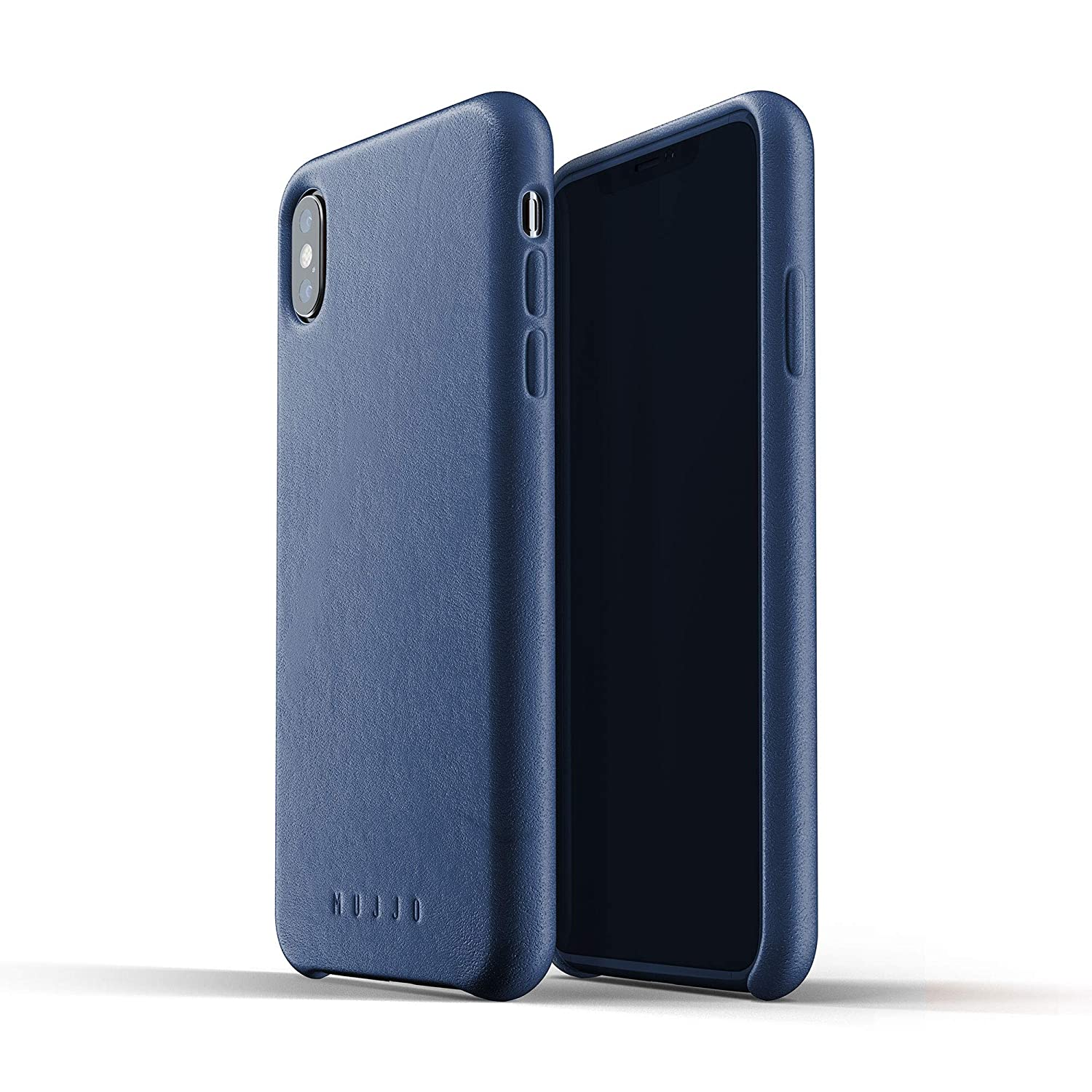 Funda para Iphone XS Max de cuero natural, azul (xmp)