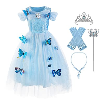 Okidokiyo Girls Princess Costume Classic Deluxe Party Dress up: Clothing