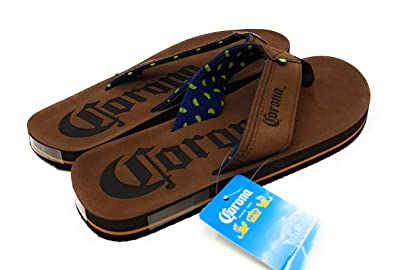 816643582 Corona Beer Men s Thong Sandals (M 9 10) Beige