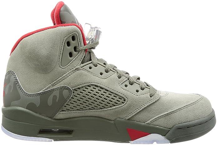 3a6b4a6896e34 Amazon.com   Nike Air Jordan 5 Retro Mens Hi Top Basketball Trainers 136027  Sneakers Shoes (UK 8 US 9 EU 42.5   Basketball