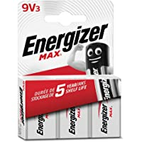 Energizer Max 9V alkalinebatterijen, 3 stuks