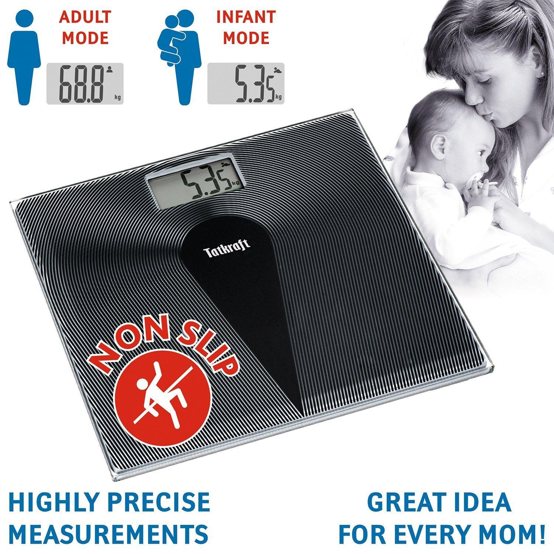 Tatkraft Happy B/áscula Corporal Digital con Modo Infantil de Alta Medici/ón Precisa 180KG