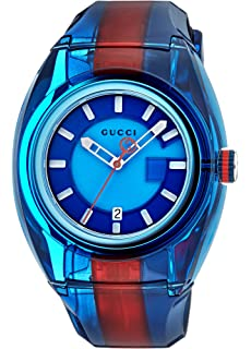 Gucci Quartz Stainless Steel and Rubber Casual Color(Model: YA137112)