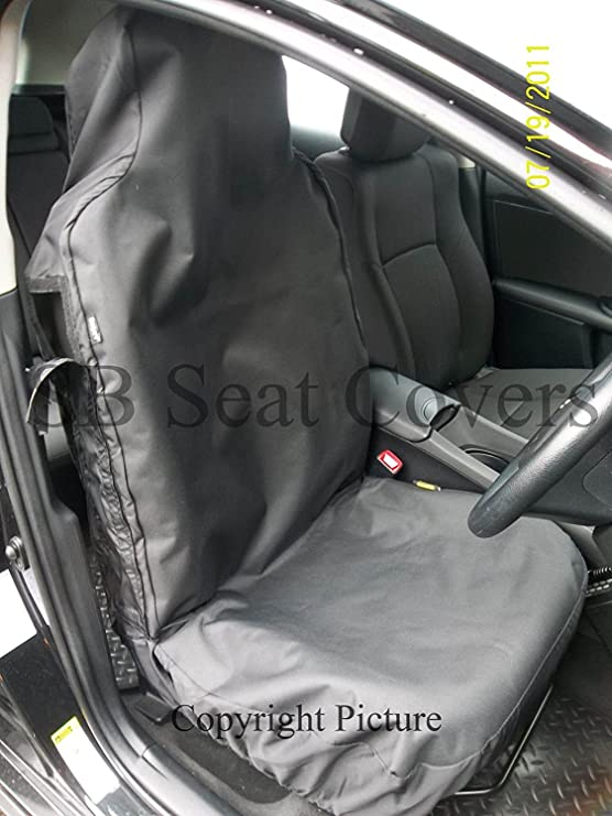 01-11 HEAVY DUTY WATERPROOF FRONT BLACK SEAT COVERS 1+1 VAUXHALL COMBO VAN