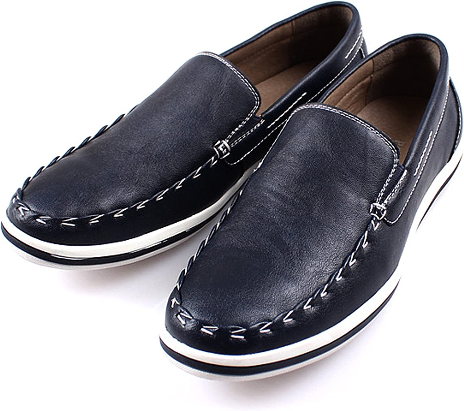 JustOneStyle New Polytec Comfort Basic Casual Formal Men Dress Penny Loafer Slip on Shoes
