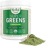 Super Greens | #1 Green Superfood Powder | 100% USDA Organic Non-GMO Vegan Supplement | 30 Servings | 20+ Whole Foods (Spirul