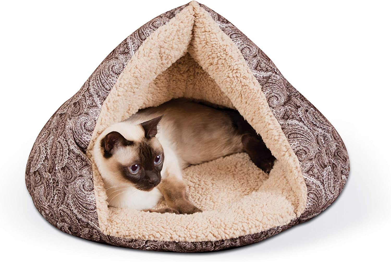K&H PET PRODUCTS Self-Warming Hut Cat Bed,