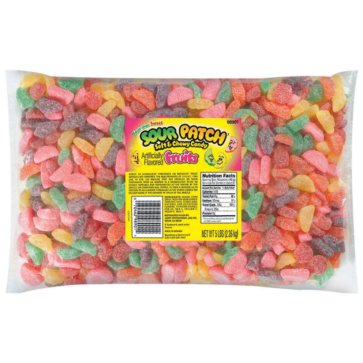 Sour Patch Soft & Chewy Candy, Fruits, 5 Pound Bag (Pack of 6) by Sour Patch (Image #1)
