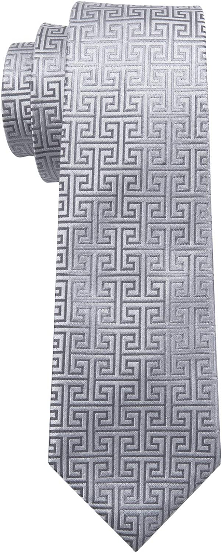 Barry.Wang - Corbatas formales para hombre, de seda con pañuelo y ...