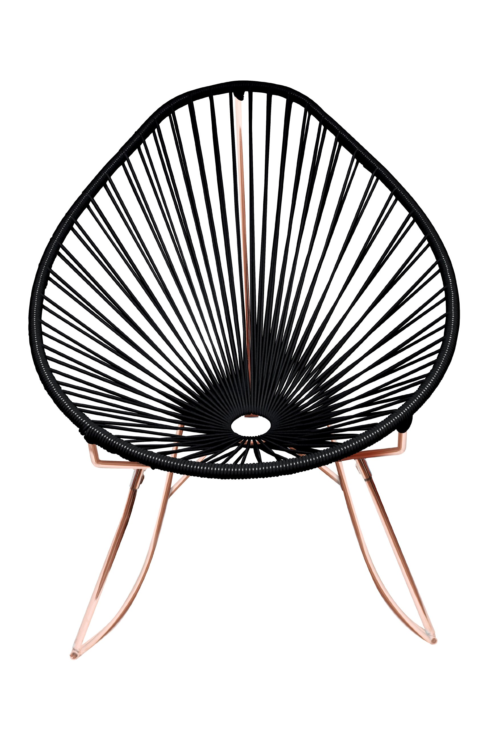 Innit Designs Acapulco Rocker, Black Weave on Copper Frame
