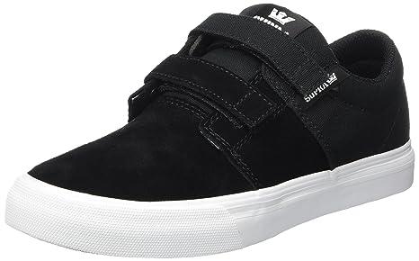 ca8d485354 Supra - Unisex Child Stacks Ii Vulcanized Velcro Shoes, 1 M US Little Kid,