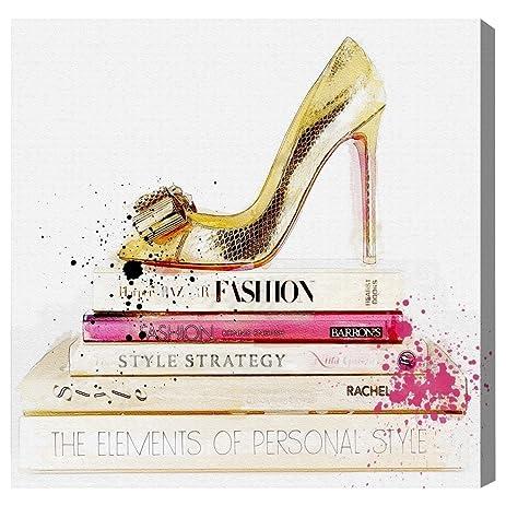 Amazon Com Gold Shoe And Fashion Books Contemporary Canvas Wall