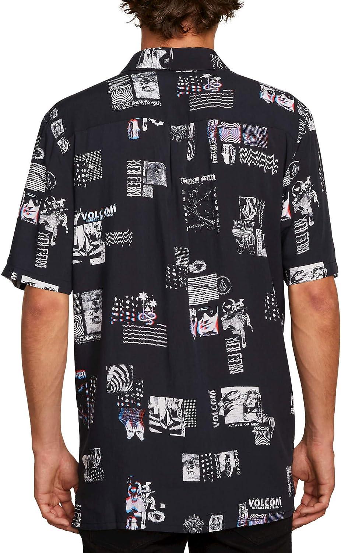 Volcom Mens Speak to You Button Up Short Sleeve Shirt