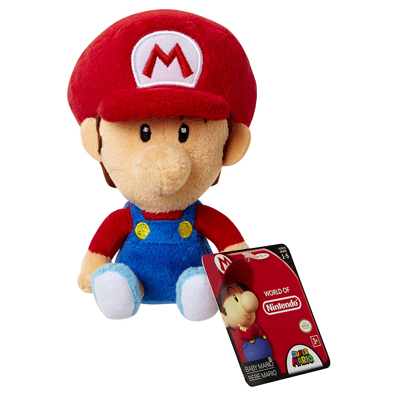 amazoncom world of nintendo baby mario plush from mario bros universe toys games - Bebe Mario