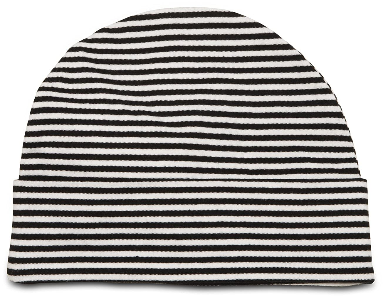 Itty Bitty /& Pretty 12-36 Month Purple /& Blue Flower//Black /& White Striped Hat