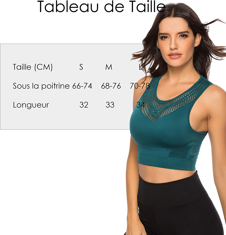 INSTINNCT Soutien-Gorge de Sport Femme Tops sans Manches T-Shirt D/ébardeur Fitness Yoga Gym Veston dint/érieur