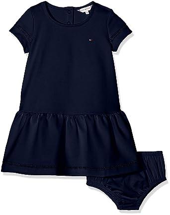 Tommy Hilfiger Baby-M/ädchen Kleid Iconic Chambray Dress Slvls