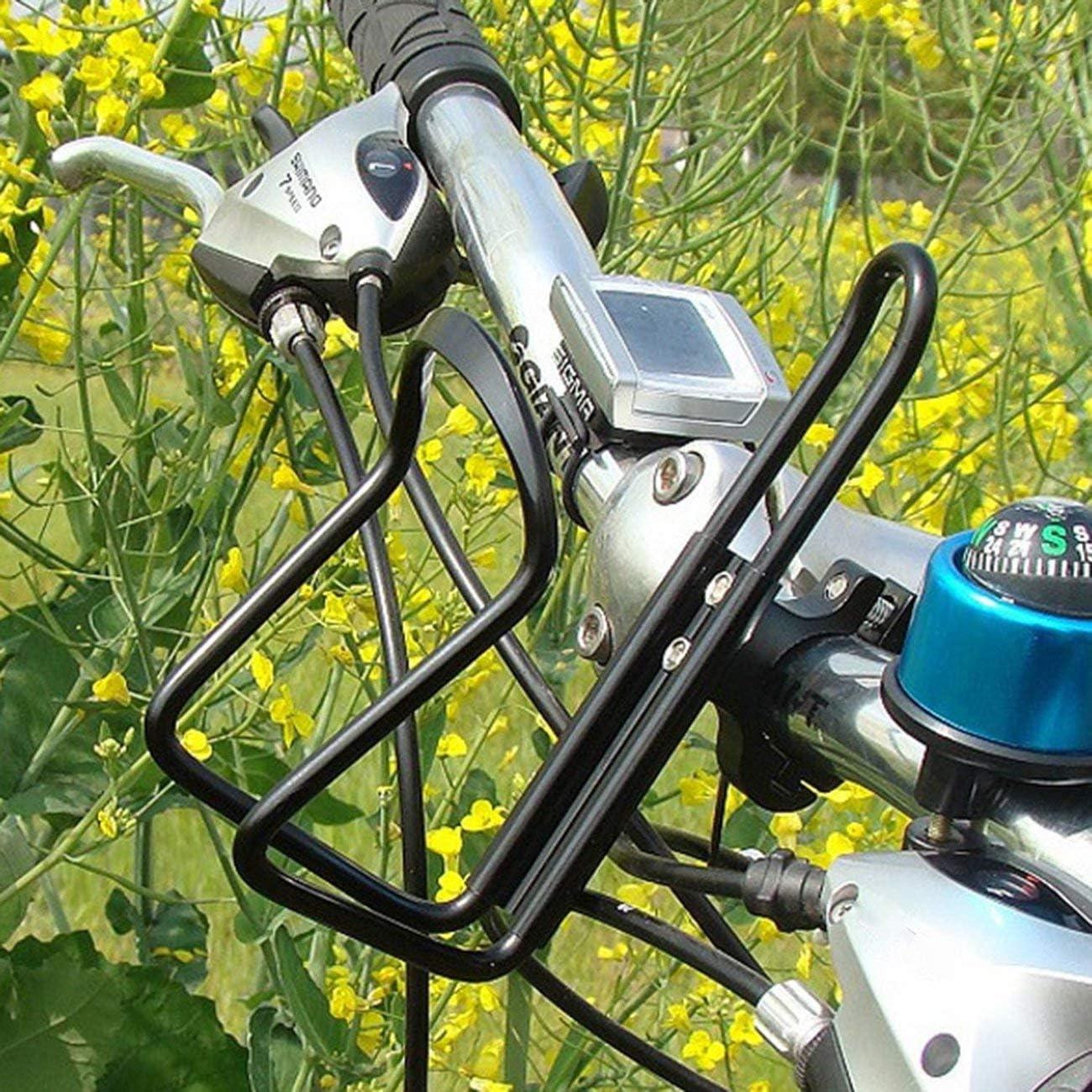Soporte de Botella de Agua de aleaci/ón de Aluminio para Bicicleta de monta/ña Estante para Botella de Bicicleta Copa de Ciclismo Barra montada en Botella Botellas con Estante Negro