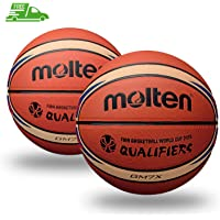 Molten BGM7X Fiba World Cup - Balón de Baloncesto (tamaño 7, 2 Unidades)