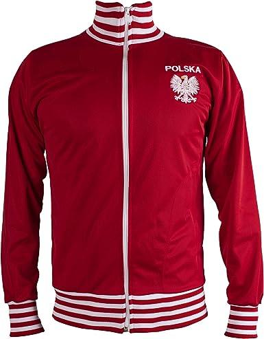 JL Sport Polonia/Polska Chaqueta del Chándal De Fútbol Retro con ...