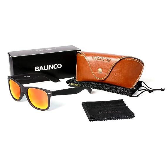 Hochwertige Polarisierte Nerd Rubber Sonnenbrille im Set (24 Modelle) Retro Vintage Unisex Brille mit Federscharnier (Black-Yellow Mirror) 1qmgafp