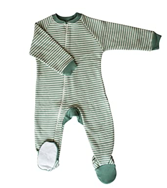 012fb54bbb Amazon.com  CastleWare Baby- Footie Pajama - Organic Cotton Fleece - Non  Slip Soles - 9 Months - 6 Years  Clothing